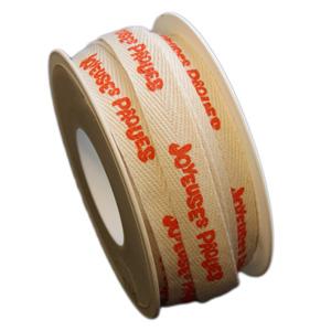 """""""Joyeuse Pâques"""" ribbon, orange (15mm)"""