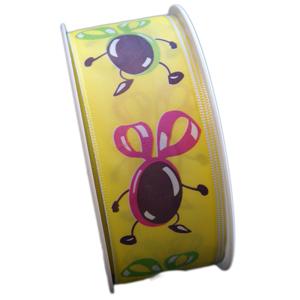 Ruban jaune coco dansant (40mm)