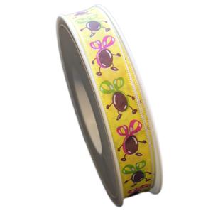 Ruban jaune coco dansant (15mm)