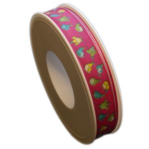 Pink ribbon, hen in balance (15mm)
