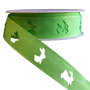 Green Easter Bunny Ribbon (25mm)