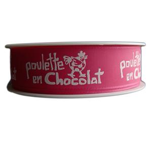 """""""Ma Poulette"""" fuschia ribbon (25mm)"""