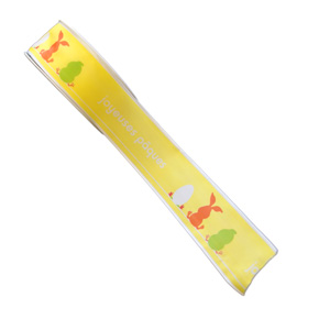 "Ruban ""Joyeuse Pâques"", jaune (40mm)"