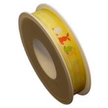 """Yellow """"Joyeuses Pâques"""" Ribbon (15mm)"""