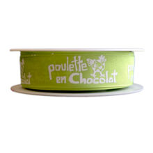 """""""Ma Poulette"""" lime green ribbon (1in)"""