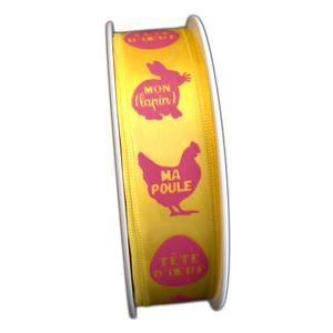 Satin ribbon, Easter joy (25mm)