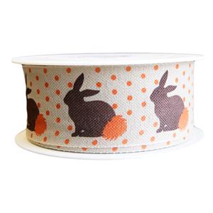 Rabbit ribbon, Linen finish (40mm)