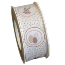 Victorian easter ribbon, brown (40mm)