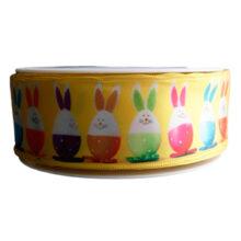 Yellow Egg cup rabbit, ribbon (40mm)