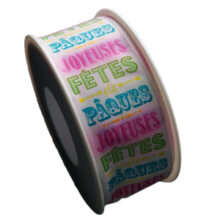 """Joyeuses fêtes de Pâques"" Ribbon (40mm)"