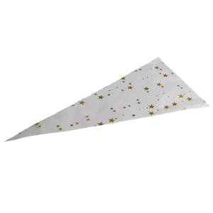 Sachet cône - étoiles or (cone2)