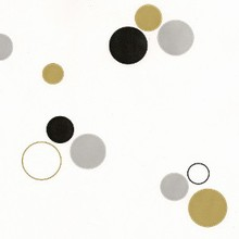 Cello bag with gold and silver circles #3