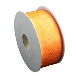 Orange ribbon, Glitter drops (40mm)