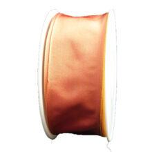 Plain orange ribbon with pink reflection (40mm)