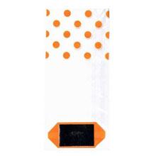 Sachet cellophane pois orange (2s)
