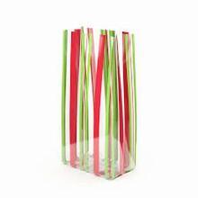 Sachet rayures rouges et vertes (C3)