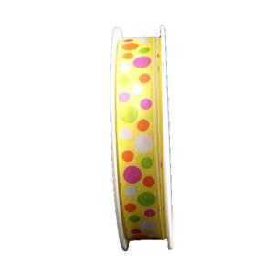 Ruban jaune, à pois (15mm)