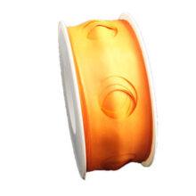 Orange, circle cutout, ribbon