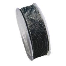 Shimmering black ribbon (25mm)