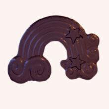 Rainbow chocolate pieces