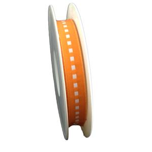 Orange ribbon with white square (0.5in)