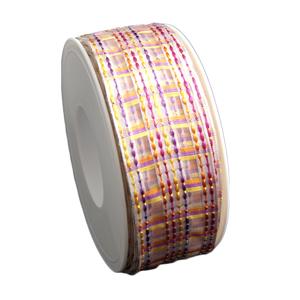 """Spring"" tartan ribbon (1.5in)"