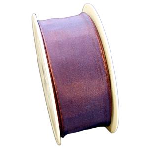 Ruban violet reflet bleu (40mm)