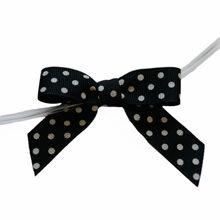 Black Polkadot Bow Twist Ties