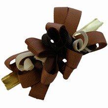 Grosgrain chocolate colors bow
