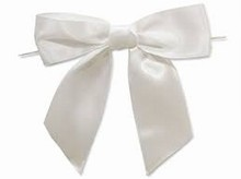 White satin bows