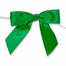 Emerald green satin bows