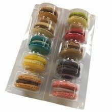 PVC tray boxes for 10 macarons