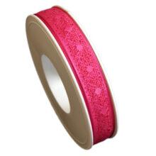 "Fuchsia ""Lace"" ribbon (0.5in)"