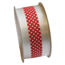 Polypro white and red ribbon
