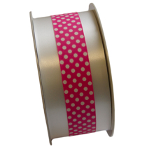 Polypropylene ribbon white and pink