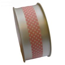 polypropylene ribbon white and light pink