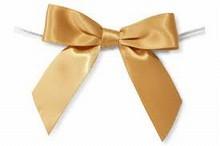 Vintage gold satin bows