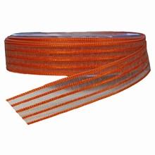 Ruban organdi avec filé orange (25mm)