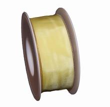 Ruban jaune clair uni (40mm)