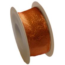 Orange ribbon, copper stripe (1.5in)