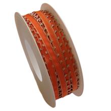 "Orange ""Tangerine"" ribbon with fringes (0.2in)"