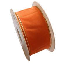 Orange ribbon with gold trim (1.5in)