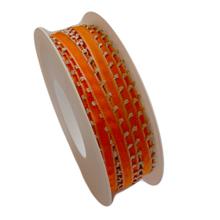 Clementine orange ribbon with trim (0.2in)