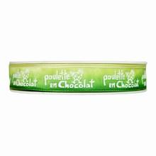 Poulette en chocolat ombré vert (15mm)