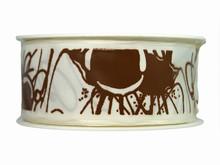 Ruban blanc avec filets de chocolat (40mm)