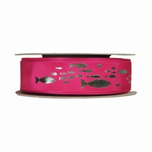 Ruban rose à poissons (25mm)