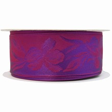 Violet monochrome ribbon with iris motif (1.5in)
