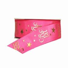 Chocolat Gold and Pink Ribbon (1.5in)