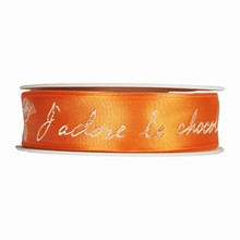 """""""J'adore le Chocolat"""" orange (25mm)"""