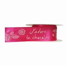 """""""J'adore le Chocolat"""" fuchsia (40mm)"""